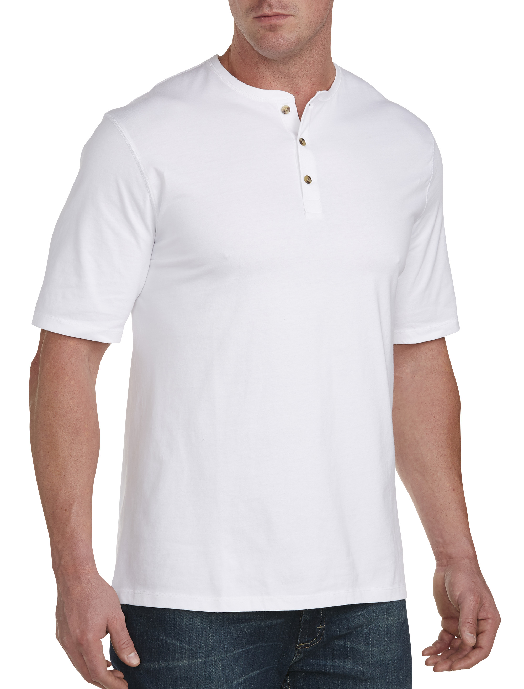 Harbor bay wicking henley casual male xl big tall ebay for Mens xl tall henley shirts
