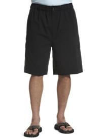 Island Passport™ Ottoman Ribbed Elastic Waist Cargo Shorts