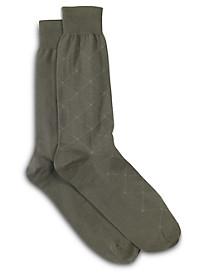 Harbor Bay® Continuous Comfort® 2-pk Diamond/Dot Dress Socks