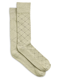 Harbor Bay® Continuous Comfort® 2-pk Argyle & Dot/Fancy Socks