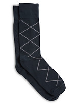 Harbor Bay® Continuous Comfort™ 2-pk Allover Diamond Dress Socks