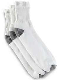Harbor Bay® Continuous Comfort® 3-pk Quarter Crew Socks