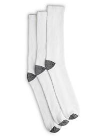 Harbor Bay® 3-pk Continuous Comfort® Crew Socks