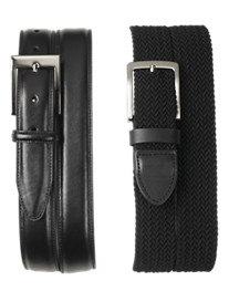 Harbor Bay® 2-for-1 Leather and Braided Belts