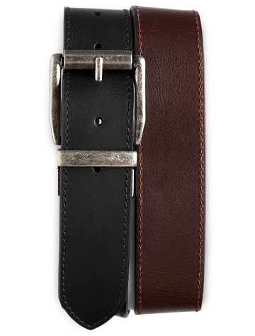 Harbor Bay® Reversible Leather Jeans Belt - ( Belts & Suspenders )