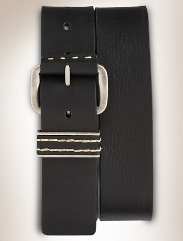 True Nation® Vintage Leather Jeans Belt | Available in black