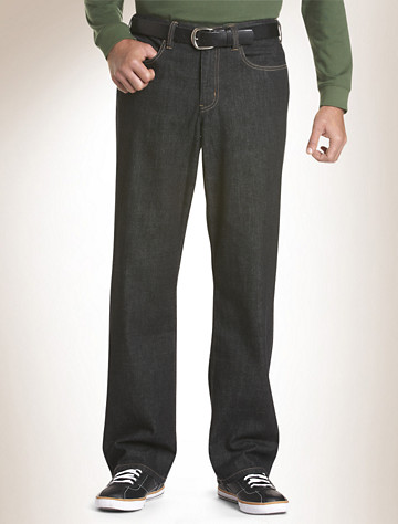 True Nation® Relaxed-Fit Jeans   Available in black rinse