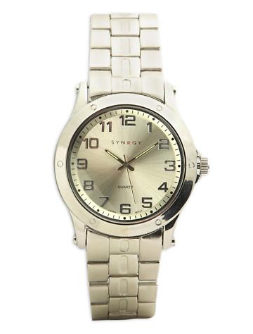 Synrgy™ Silvertone Bracelet Watch