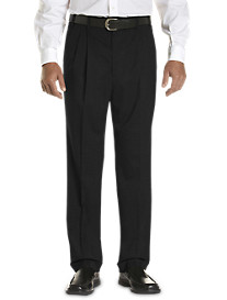 Gold Series Continuous Comfort™ Pleated Sateen Dress Pants with Finished Hem