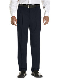 Gold Series Continuous Comfort® Pleated Sateen Dress Pants with Finished Hem