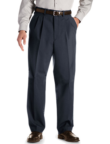 Gold Series Waist-Relaxer® Hemmed Pleated Suit Pants