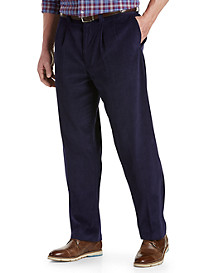 Oak Hill® Waist-Relaxer® Pleated Corduroy Pants