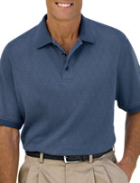 Oak Hill® Diamond Mercerized Wicking Polo