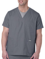 Landau® For Men™ Five-Pocket Scrub Top