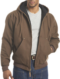Berne Original Hooded Washed Quilt-Lined Jacket