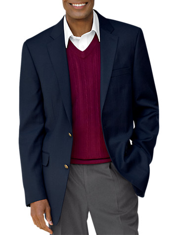 Gold Series Jacket-Relaxer™ Blazer (Long/XLong) (navy)