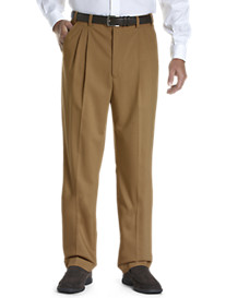Gold Series Continuous Comfort® Pleated Sateen Pants with Unfinished Hem