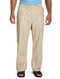 Island Outfitters™ Elastic-Waist Linen-Blend Pants
