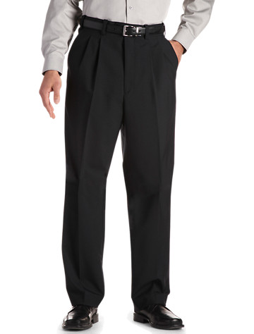 Gold Series Waist-Relaxer® Unfinished Pleated Suit Pants