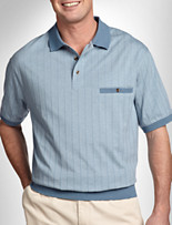 Harbor Bay® Vertical Stripe Banded-Bottom Shirt