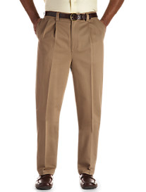Oak Hill® Waist-Relaxer® Pleated Premium Pants-Hemmed