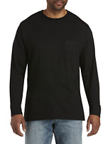 Harbor Bay® Long-Sleeve Pocket Wicking Crew