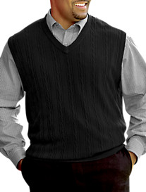 Harbor Bay® Soft-Touch Cable Sweater Vest