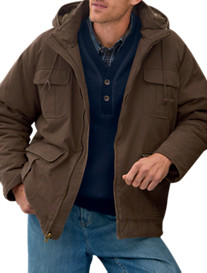 True Nation® Hooded Washed Canvas Jacket