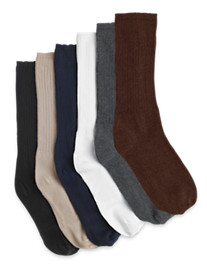 Harbor Bay® Continuous Comfort™ 2-pk Extra-Wide Socks