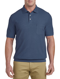 Harbor Bay® Banded-Bottom Piqué Polo Shirt – New & Improved Fit