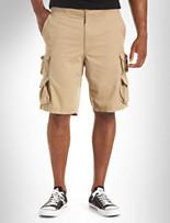 True Nation® Ribbed-Waist Cargo Shorts