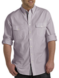 True Nation® Roll-Sleeve Oxford Sport Shirt