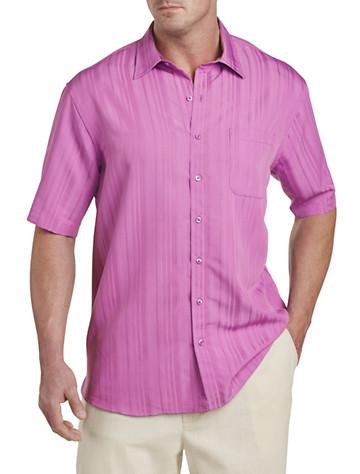 Island Passport™ Jacquard Stripe Sport Shirt