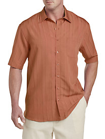 Island Passport™ Jacquard Stripe Sport Shirt
