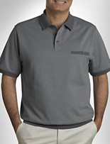 Harbor Bay® Small Diamond Banded-Bottom Polo
