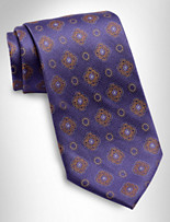 Gold Series™ Designed In Italy Medallion Silk Tie