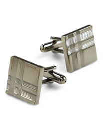 GB NICKEL SQR CUFF LINKS