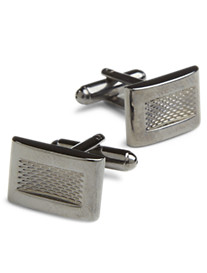 Geoffrey Beene® Textured Rectangle Cuff Links