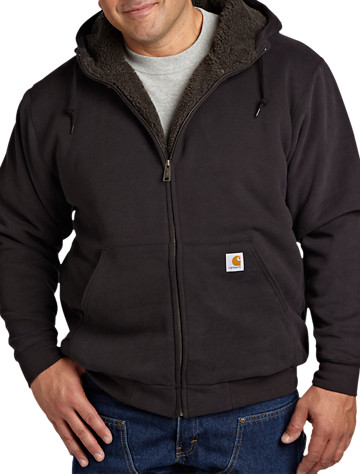 Carhartt® Brushed Sherpa-Lined Hooded Sweatshirt - $85.00