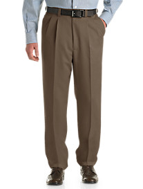 Oak Hill® Waist-Relaxer® Pleated Microfiber Pants