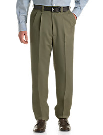 Oak Hill® Waist-Relaxer® Pleated Microfiber Pants