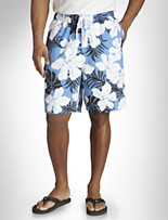 Island Outfitters™ Hibiscus Cargo Swim Trunks