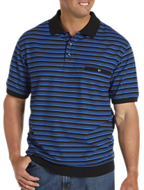 Harbor Bay® Stripe Banded-Bottom Polo