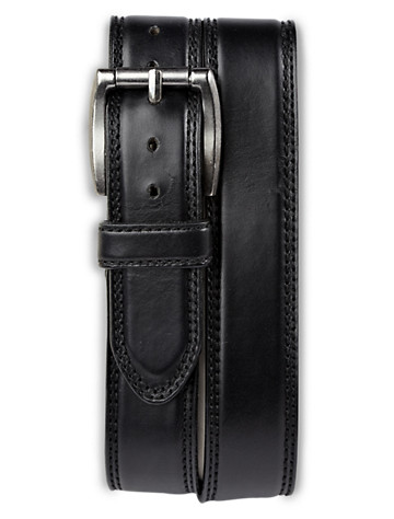 Harbor Bay® Wide Leather Jeans Belt - ( Belts & Suspenders )