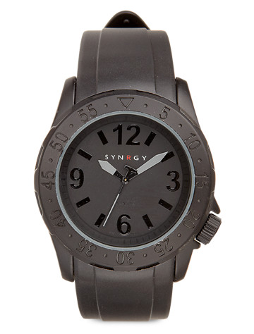 Synrgy™ Black Silicone Watch