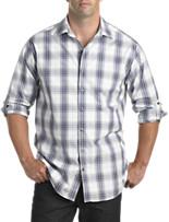 Synrgy™ Roll-Sleeve Exploded Plaid Sport Shirt
