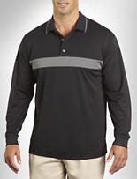 Reebok Play Dry® Long-Sleeve Colorblock Polo