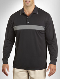 Reebok Play Dry® Long-Sleeve Colorblock Polo
