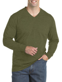 Harbor Bay® Long-Sleeve Wicking Jersey V-Neck Tee