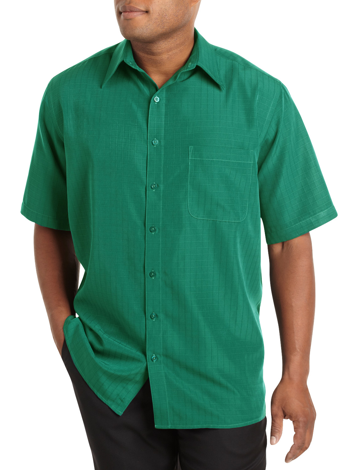 harbor bay short sleeve microfiber sport shirt casual male